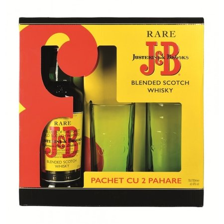 J&B Rare + 2 pahare 0.7L