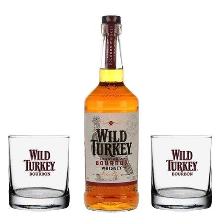 Wild Turkey 81 + 2 pahare 0.7L