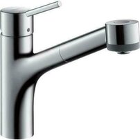 Baterie bucatarie Hansgrohe Talis S crom cu dus extractibil