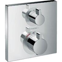 Baterie dus termostatata Hansgrohe Ecostat Square cu montaj incastrat, o singura functie