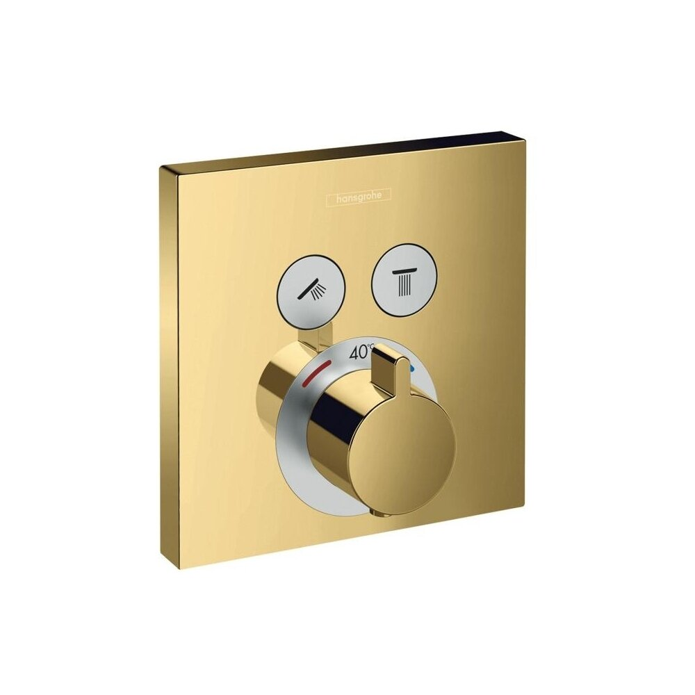 Baterie Dus Termostatata Showerselect Auriu Lucios Incastrata