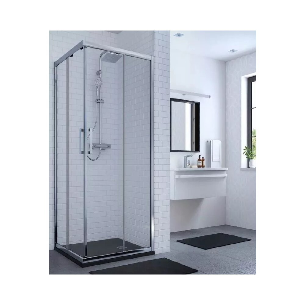 Cabina de dus Ideal Standard Connect 2 patrata 90x90 cm profil alb imagine
