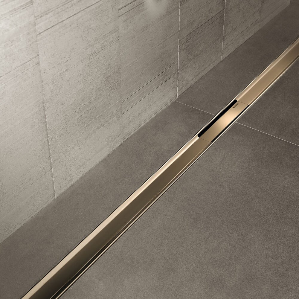 Capac pentru rigola Geberit CleanLine80 30-130 cm champagne imagine neakaisa.ro