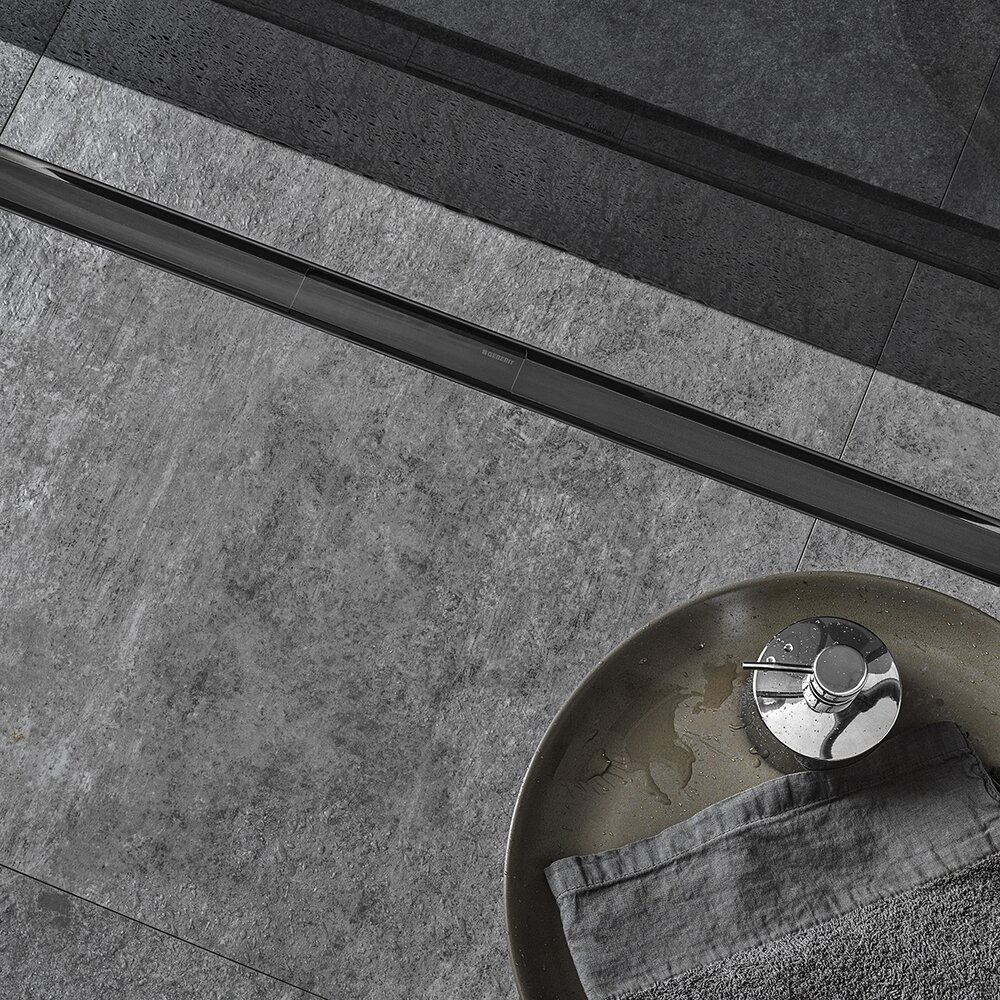 Capac pentru rigola Geberit CleanLine80 30-90 cm negru periat imagine neakaisa.ro