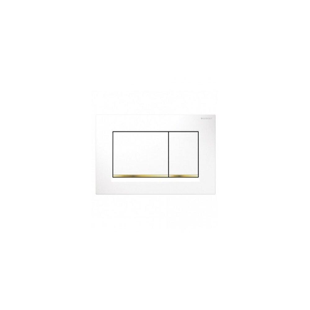 Clapeta de actionare Geberit Sigma 30 alb auriu imagine neakaisa.ro
