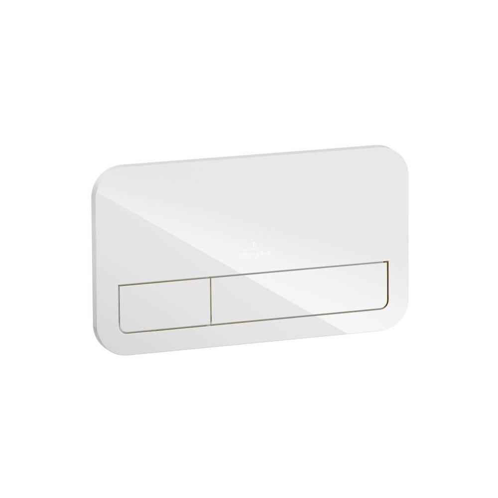 Clapeta de actionare Villeroy&Boch ViConnect sticla alb lucios imagine
