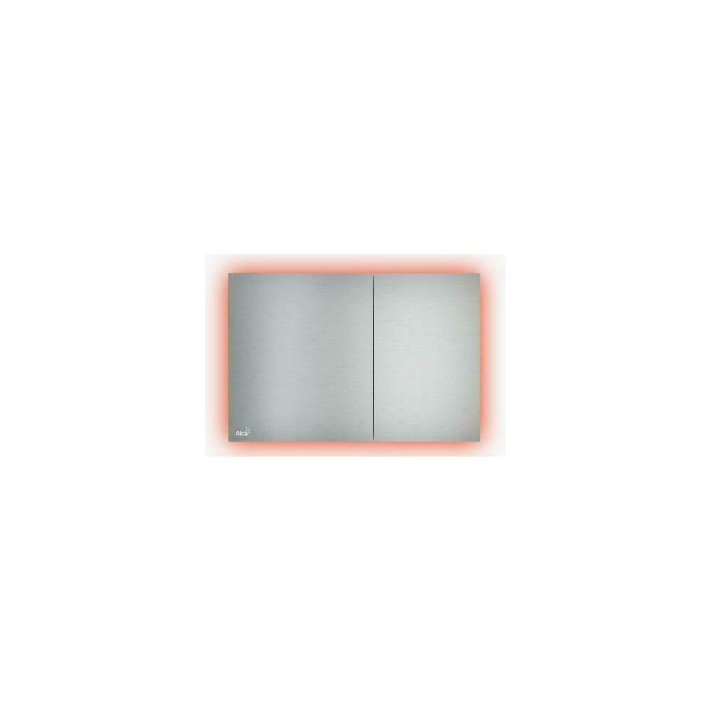Clapeta de actionare Alcaplast Air Light AEZ113 cu iluminare rosu inox mat imagine neakaisa.ro