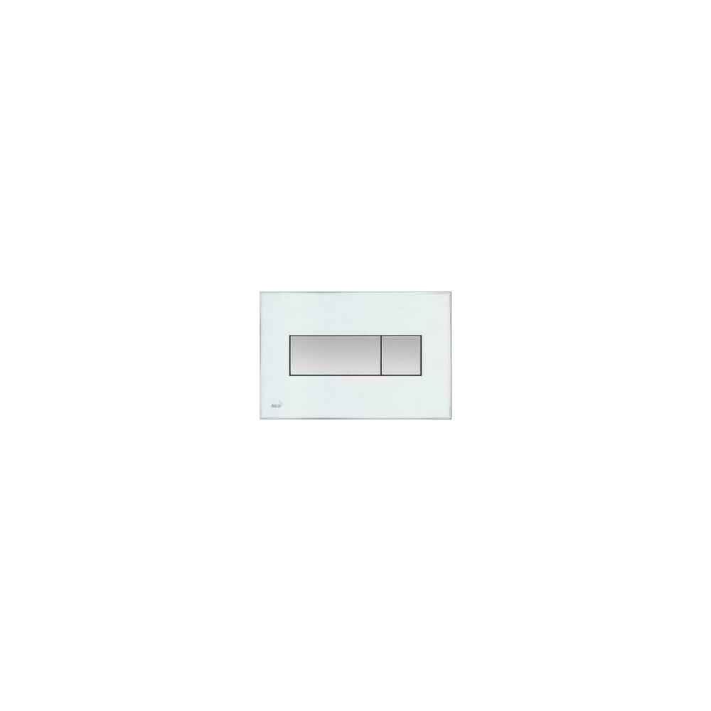 Clapeta de actionare Alcaplast pentru sistem de instalare ingropat, cu panou colorat inserat (Alb) - iluminat (Rosu) poza