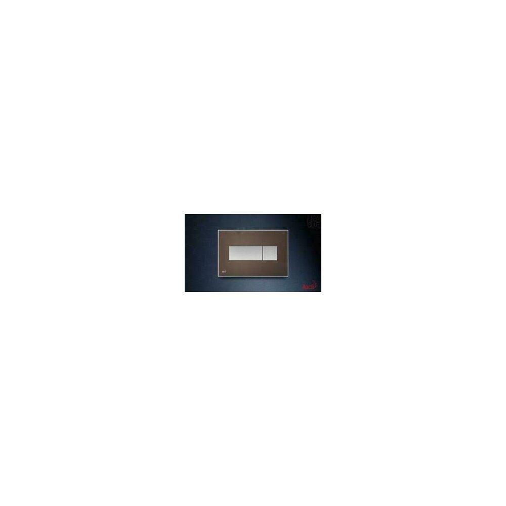 Clapeta de actionare Alcaplast pentru sistem de instalare ingropat, cu panou colorat inserat (Maro) - iluminat (Alb) poza