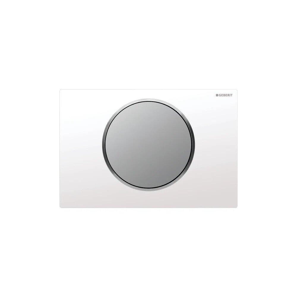 Clapeta de actionare Geberit Sigma 10 alb/crom mat imagine