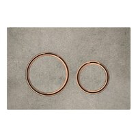 Clapeta de actionare Geberit Sigma 21 aspect beton/inel rose gold