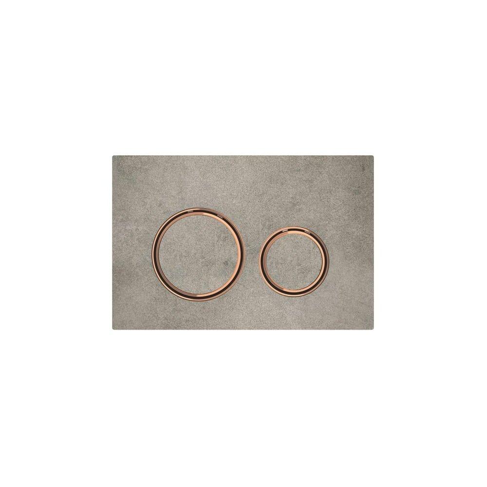Clapeta de actionare Geberit Sigma 21 aspect beton/inel rose gold imagine