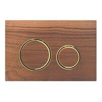 Clapeta de actionare Geberit Sigma 21 nuc american/inel auriu