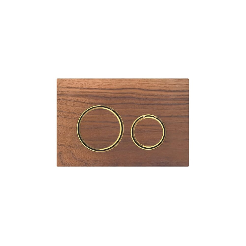Clapeta de actionare Geberit Sigma 21 nuc american/inel auriu poza