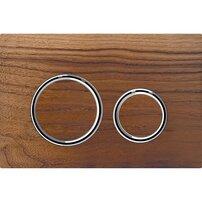 Clapeta de actionare Geberit Sigma 21 nuc american/inel crom