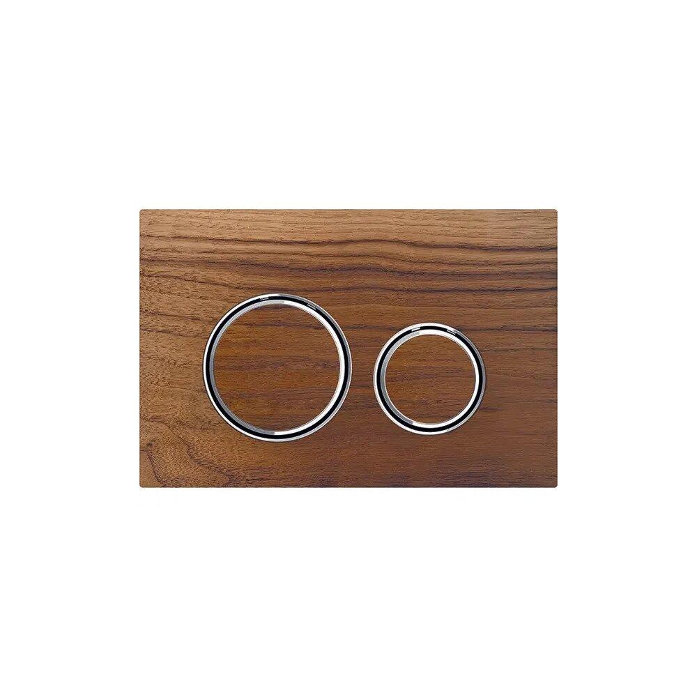 Clapeta de actionare Geberit Sigma 21 nuc american/inel crom imagine
