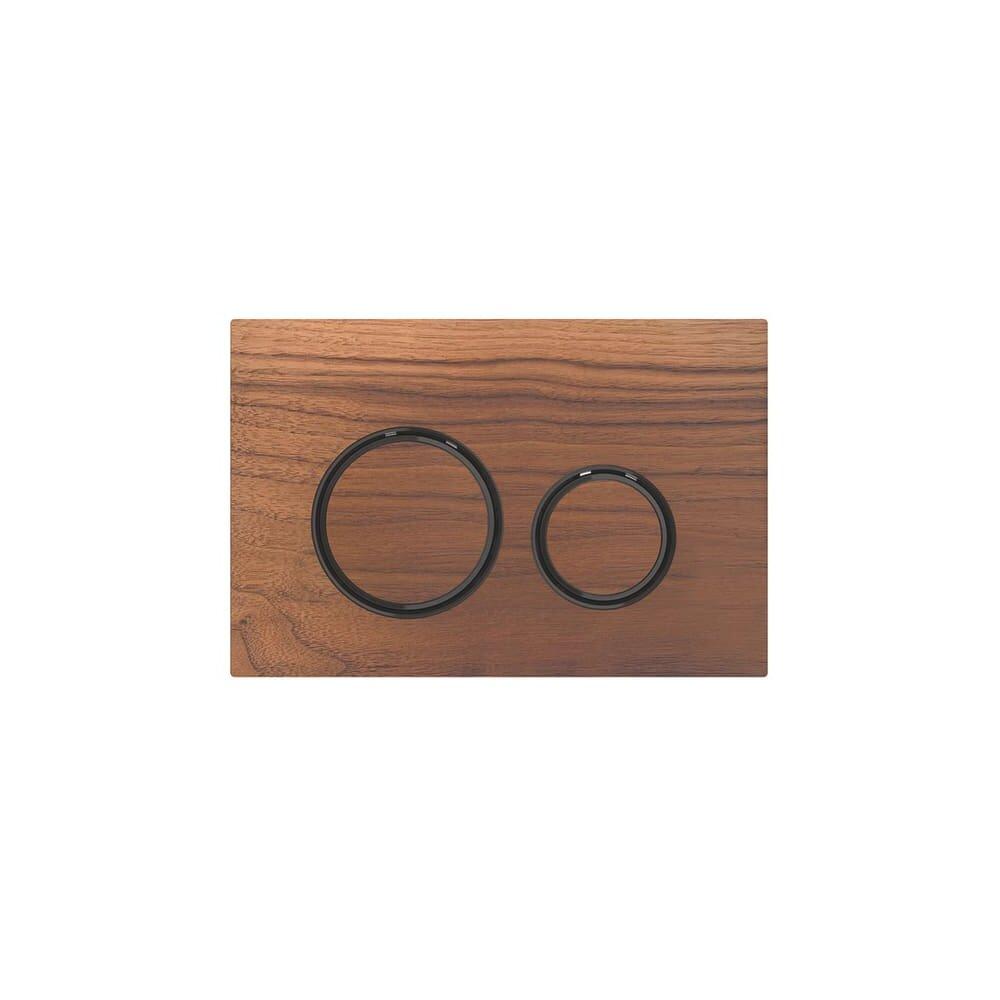 Clapeta de actionare Geberit Sigma 21 nuc american/inel negru imagine