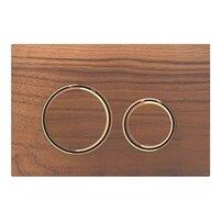 Clapeta de actionare Geberit Sigma 21 nuc american/inel rose gold