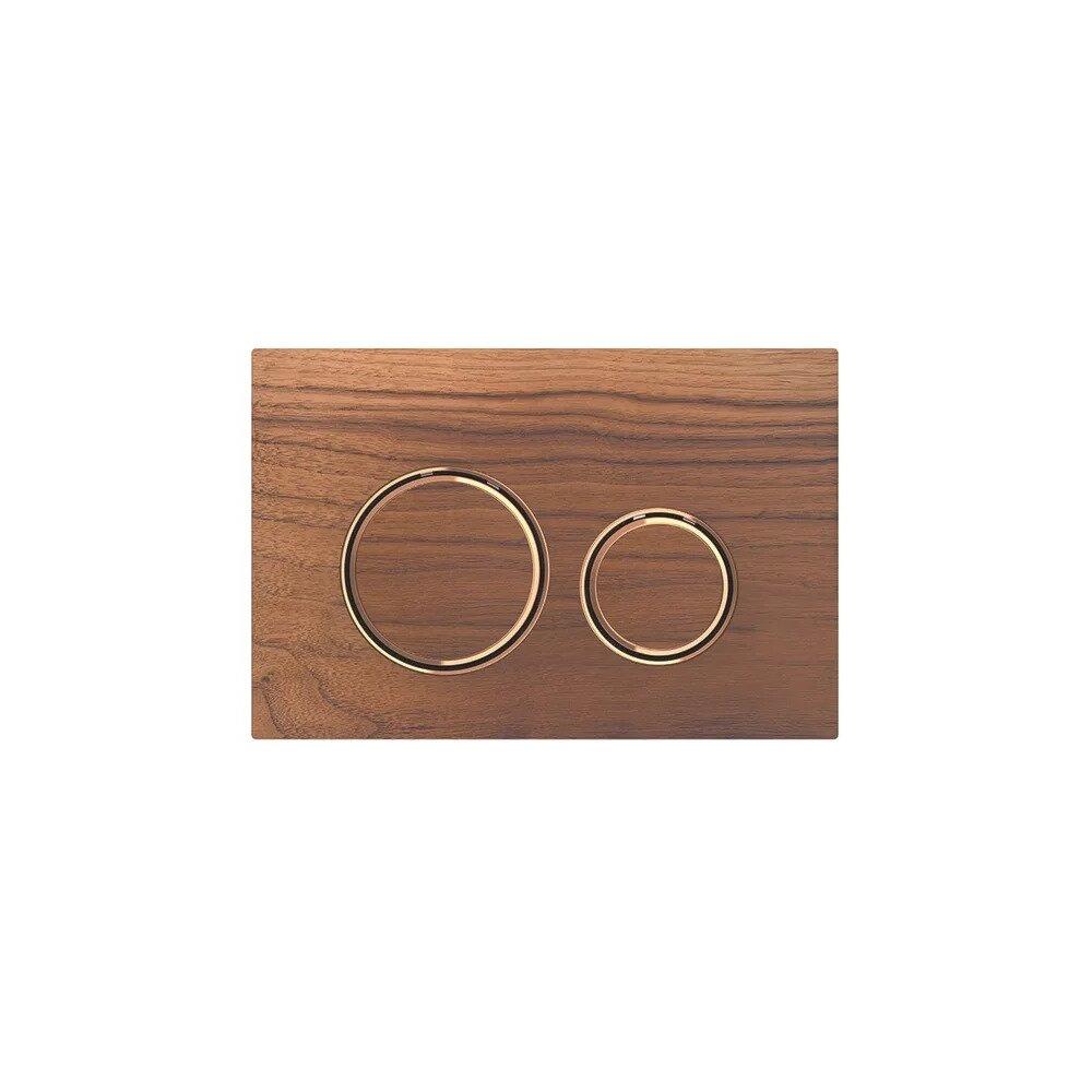 Clapeta de actionare Geberit Sigma 21 nuc american/inel rose gold imagine