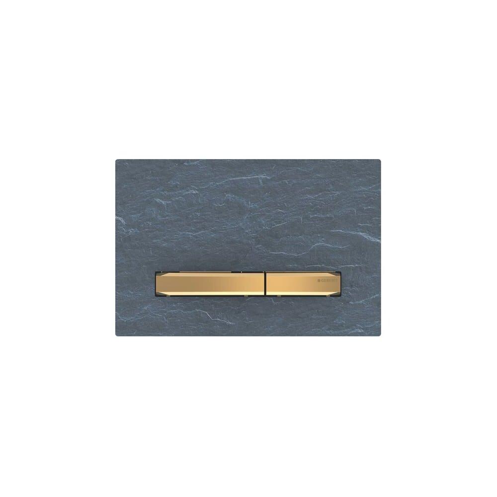 Clapeta de actionare Geberit Sigma 50 ardezie mustang/butoane aurii