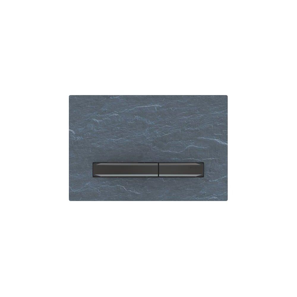 Clapeta de actionare Geberit Sigma 50 ardezie mustang/butoane negru mat imagine