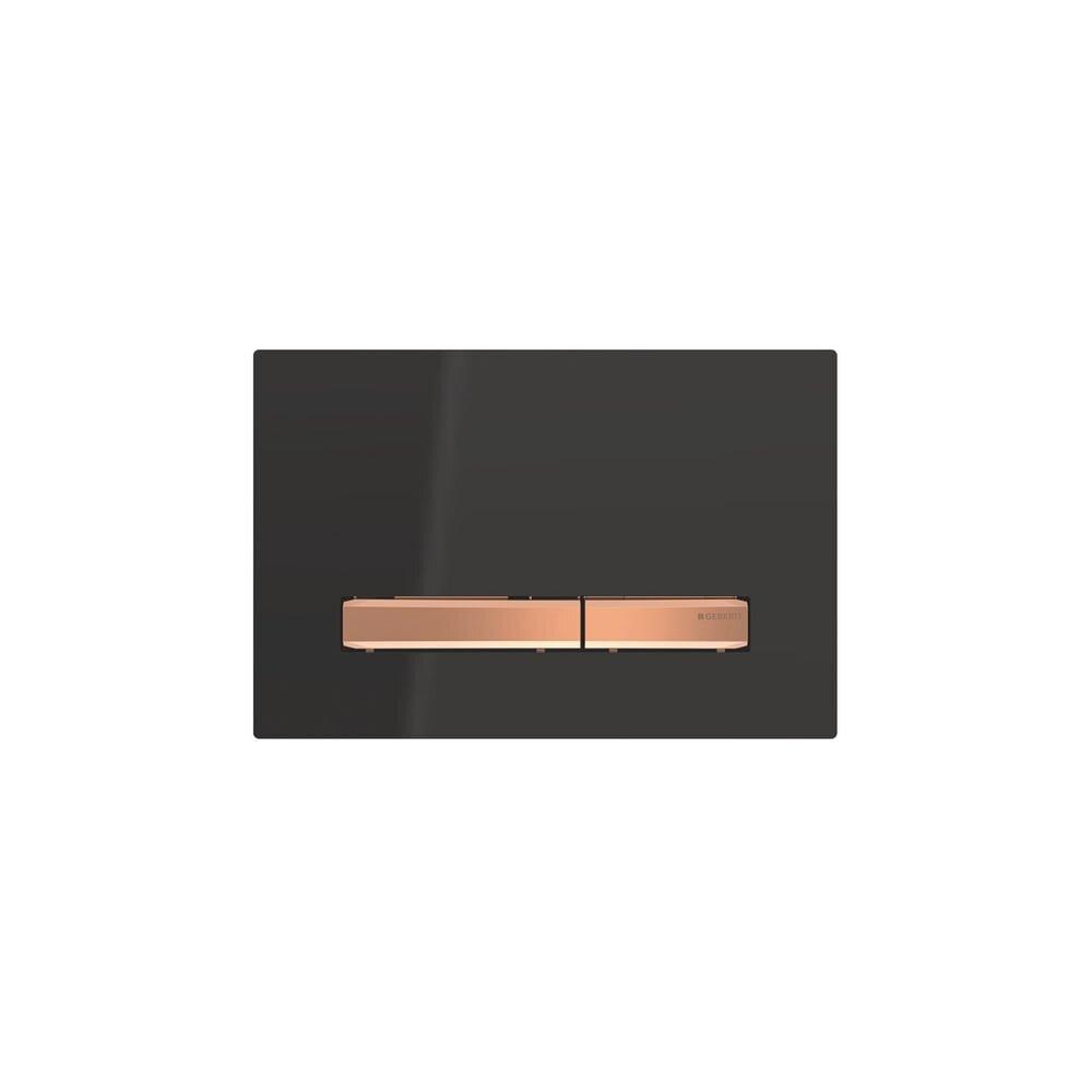 Clapeta de actionare Geberit Sigma 50 negru/butoane rose gold imagine