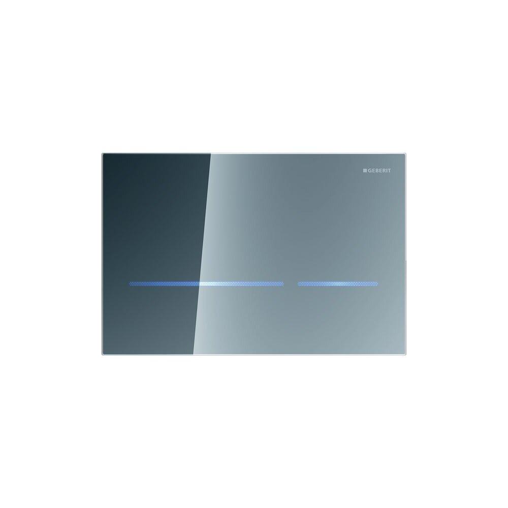Clapeta electronica Geberit Sigma80 finisaj oglinda pentru rezervor cu grosimea 12 cm