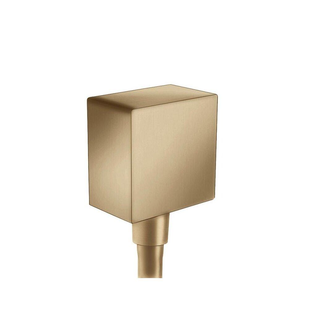 Conector dus Hansgrohe FixFit Square bronz periat imagine