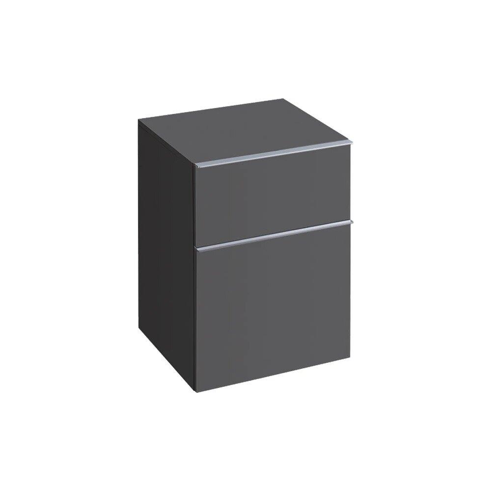 Dulap baie suspendat negru Geberit Icon 2 sertare 45 cm imagine neakaisa.ro