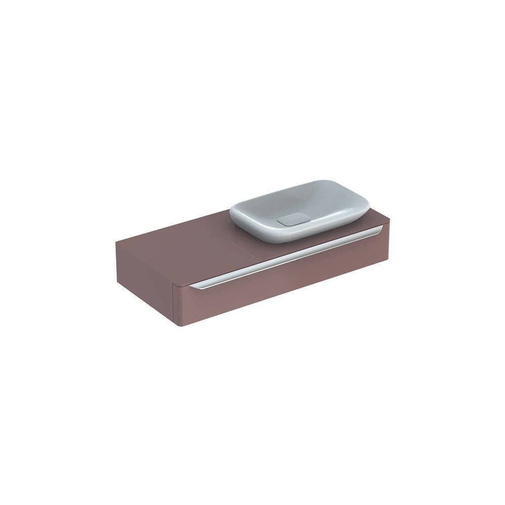 Dulap baza pentru lavoar incorporat suspendat taupe Geberit Myday 1 sertar 115 cm imagine