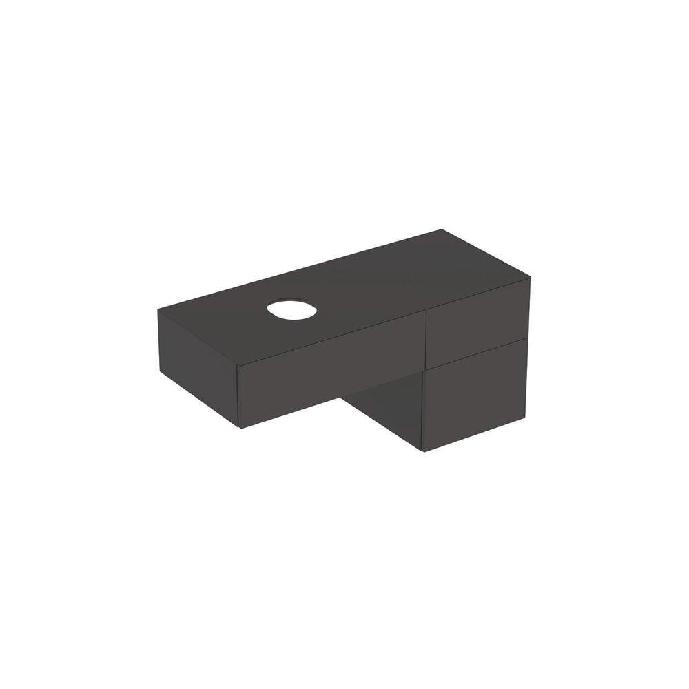 Dulap baza pentru lavoar pe blat Geberit Variform negru 3 sertare 120 cm neakaisa.ro