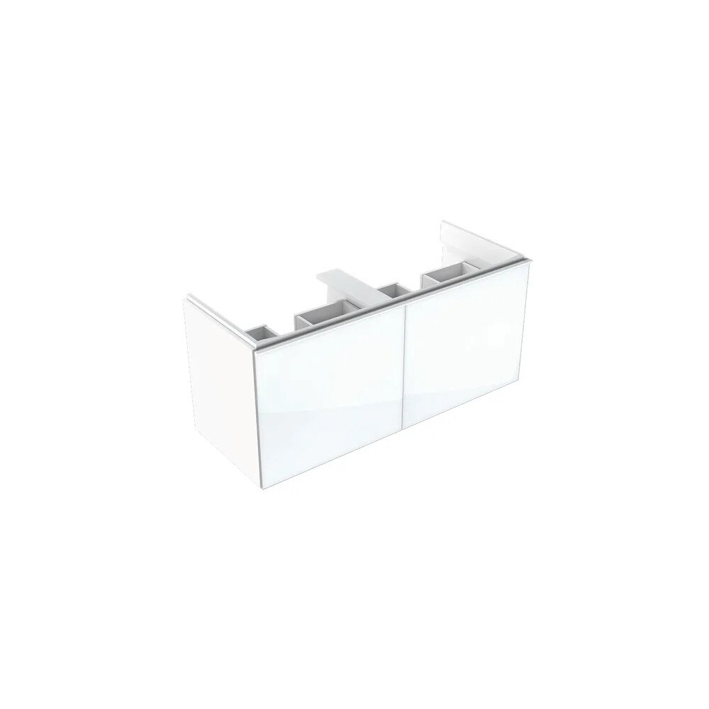 Dulap baza pentru lavoar suspendat alb Geberit Acanto 2 sertare 119 cm imagine