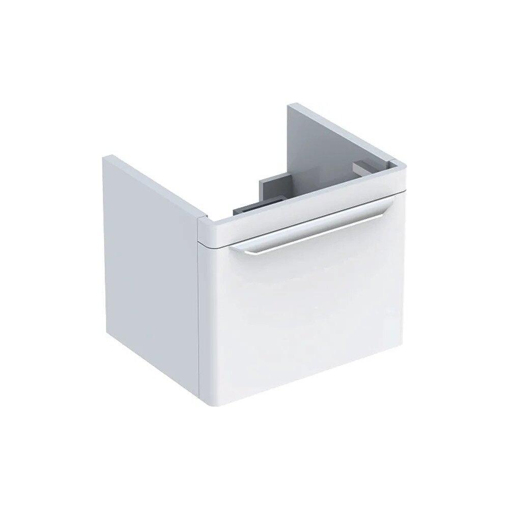 Dulap baza pentru lavoar suspendat alb Geberit Myday 1 sertar 50 cm imagine
