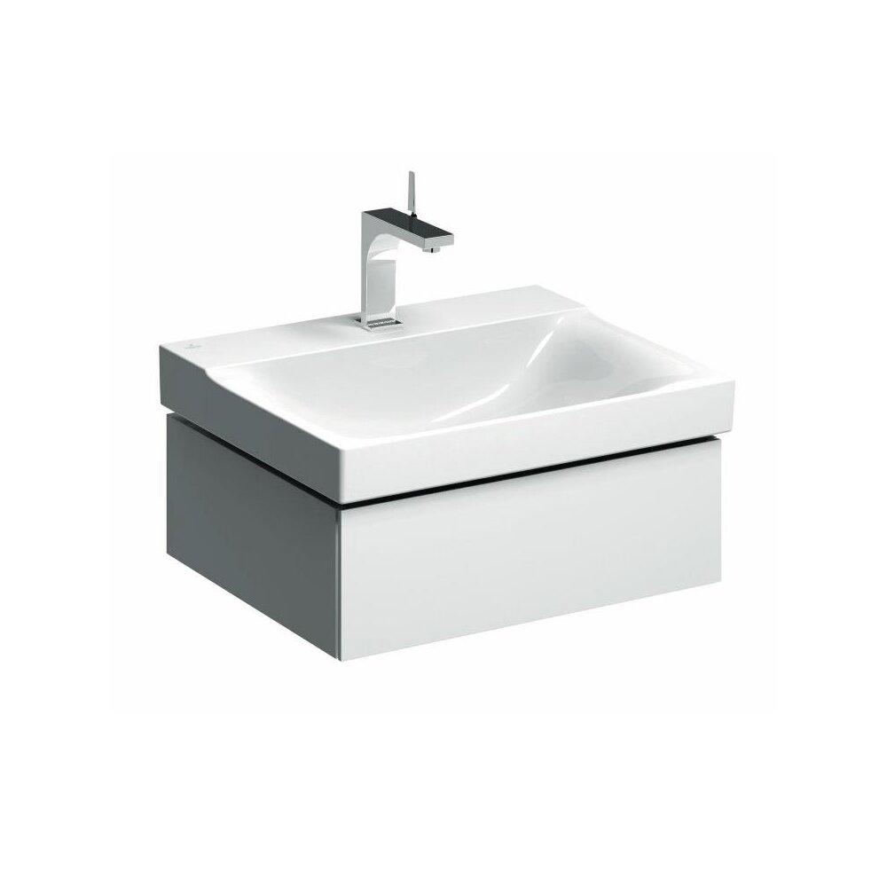 Dulap baza pentru lavoar suspendat alb Geberit Xeno² 1 sertar 58 cm neakaisa.ro