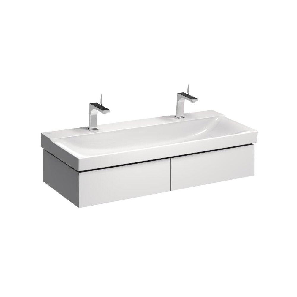 Dulap baza pentru lavoar suspendat alb Geberit Xeno² 2 sertare 118 cm neakaisa.ro