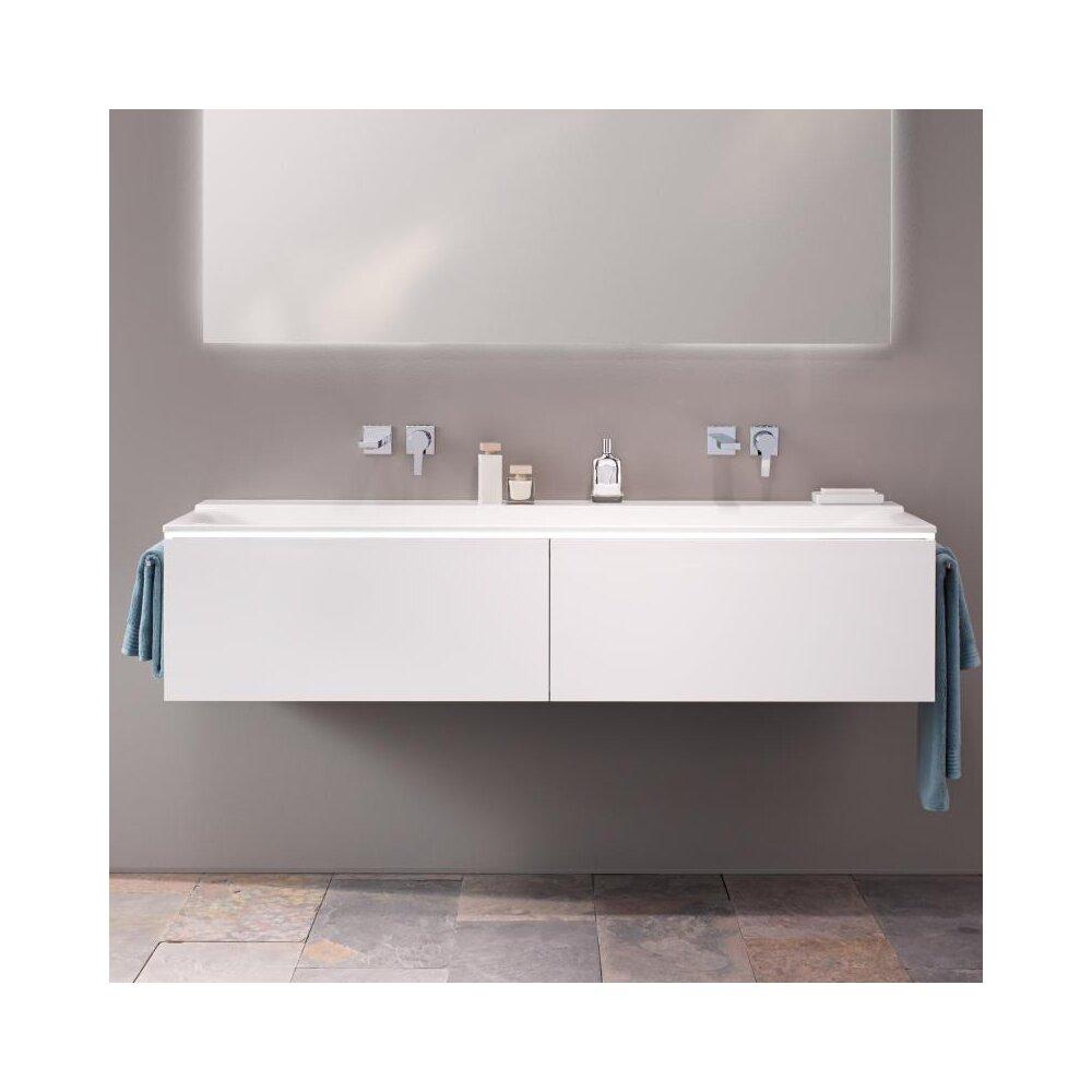 Dulap baza pentru lavoar suspendat alb Geberit Xeno² 2 sertare 160 cm
