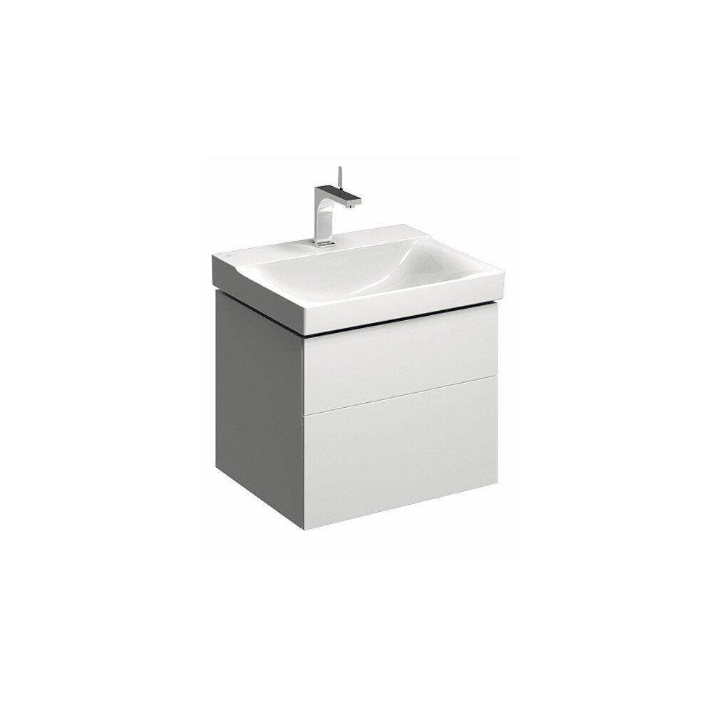 Dulap baza pentru lavoar suspendat alb Geberit Xeno² 2 sertare 58 cm imagine