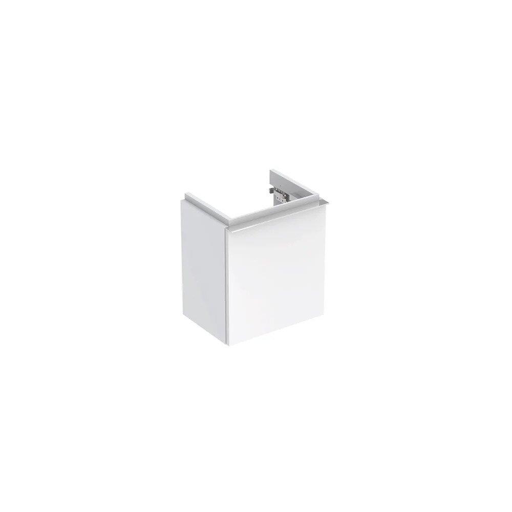 Dulap baza pentru lavoar suspendat alb lucios Geberit Icon 1 usa opritor stanga 37 cm imagine