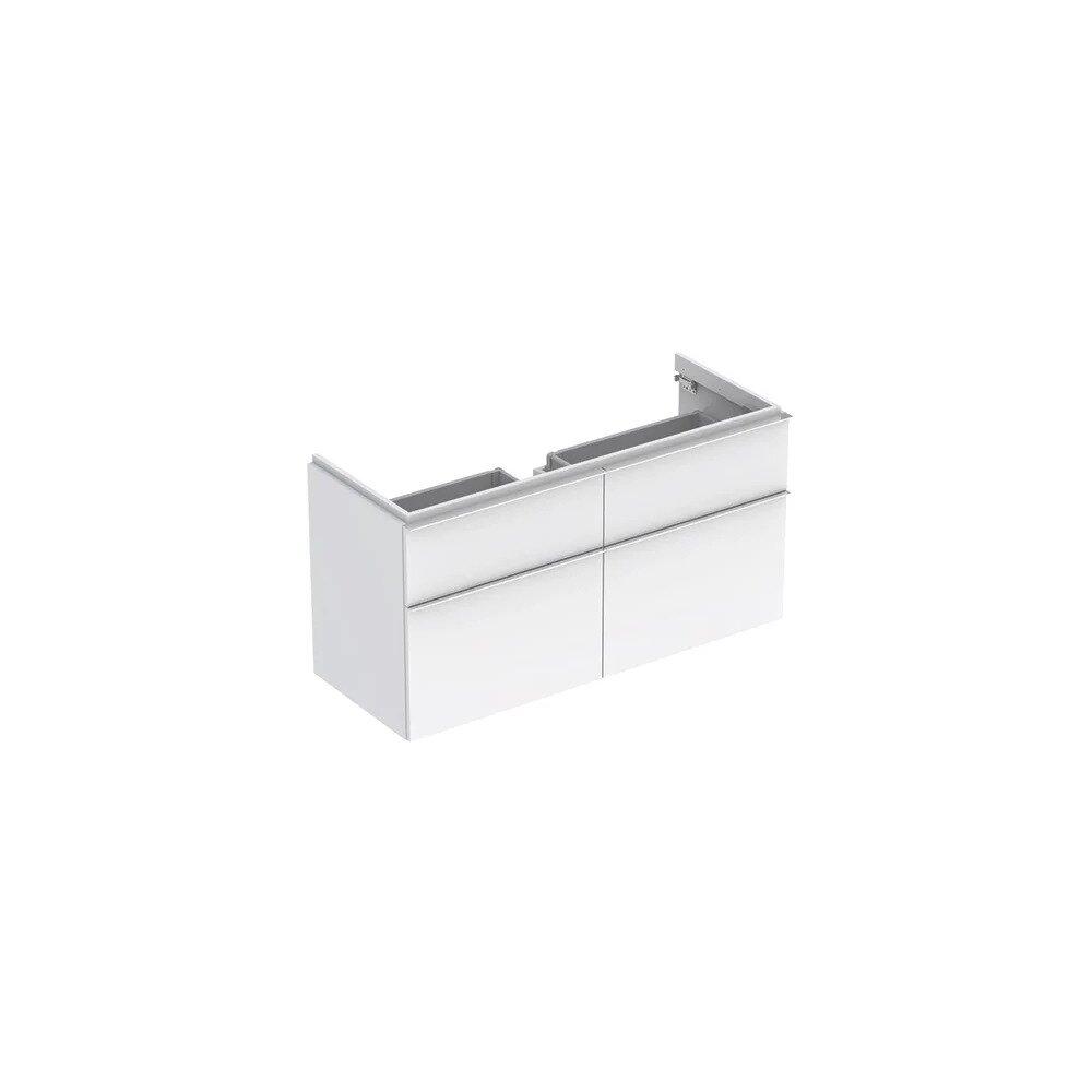 Dulap baza pentru lavoar suspendat alb lucios Geberit Icon 4 sertare 119 cm imagine