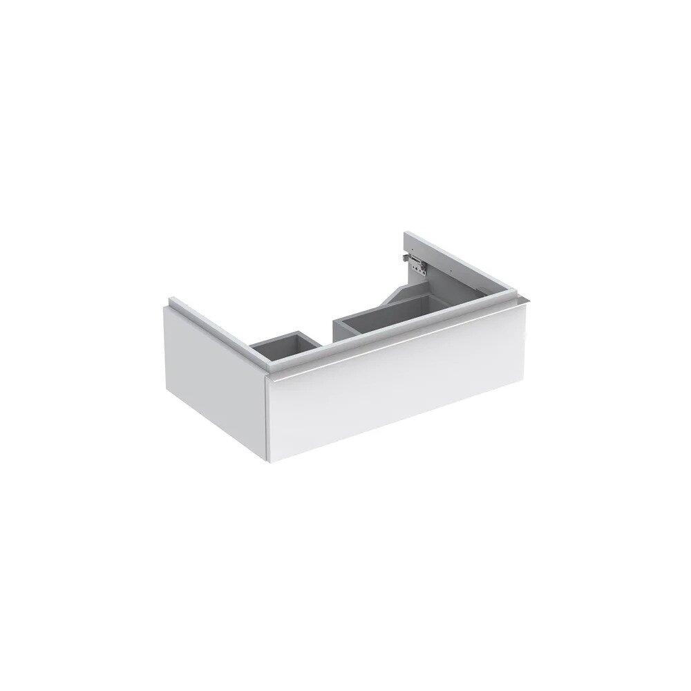 Dulap baza pentru lavoar suspendat alb mat Geberit Icon 1 sertar 74 cm imagine neakaisa.ro