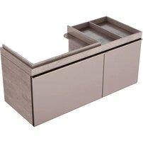 Dulap baza pentru lavoar suspendat bej Geberit Citterio 2 sertare dreapta 119 cm