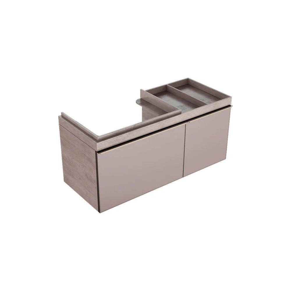 Dulap baza pentru lavoar suspendat bej Geberit Citterio 2 sertare dreapta 119 cm imagine