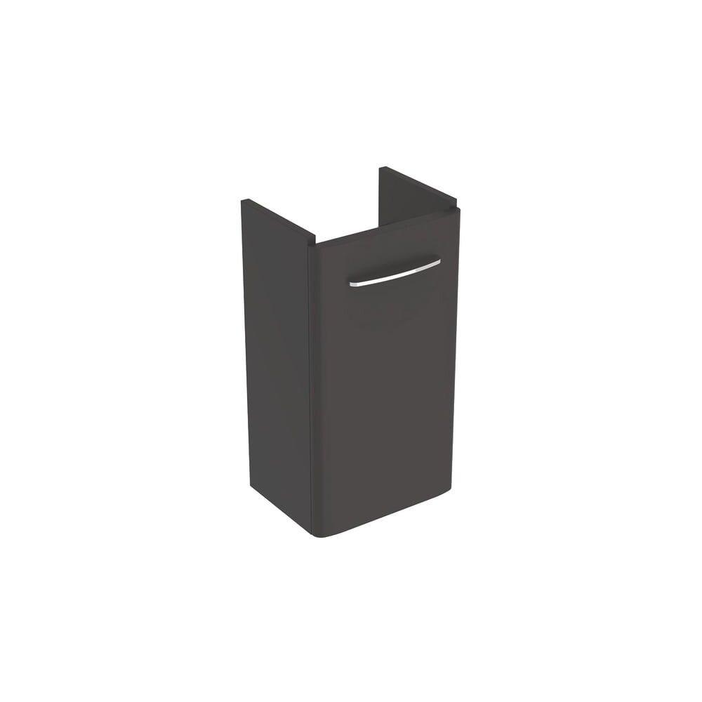 Dulap baza pentru lavoar suspendat Geberit Selnova Square negru 1 usa 36 cm imagine