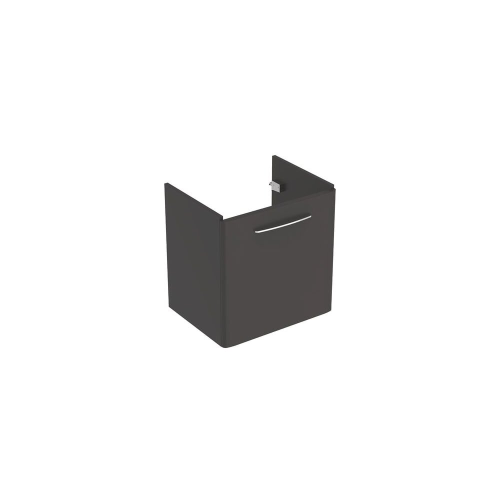 Dulap baza pentru lavoar suspendat Geberit Selnova Square negru 1 usa 65 cm imagine
