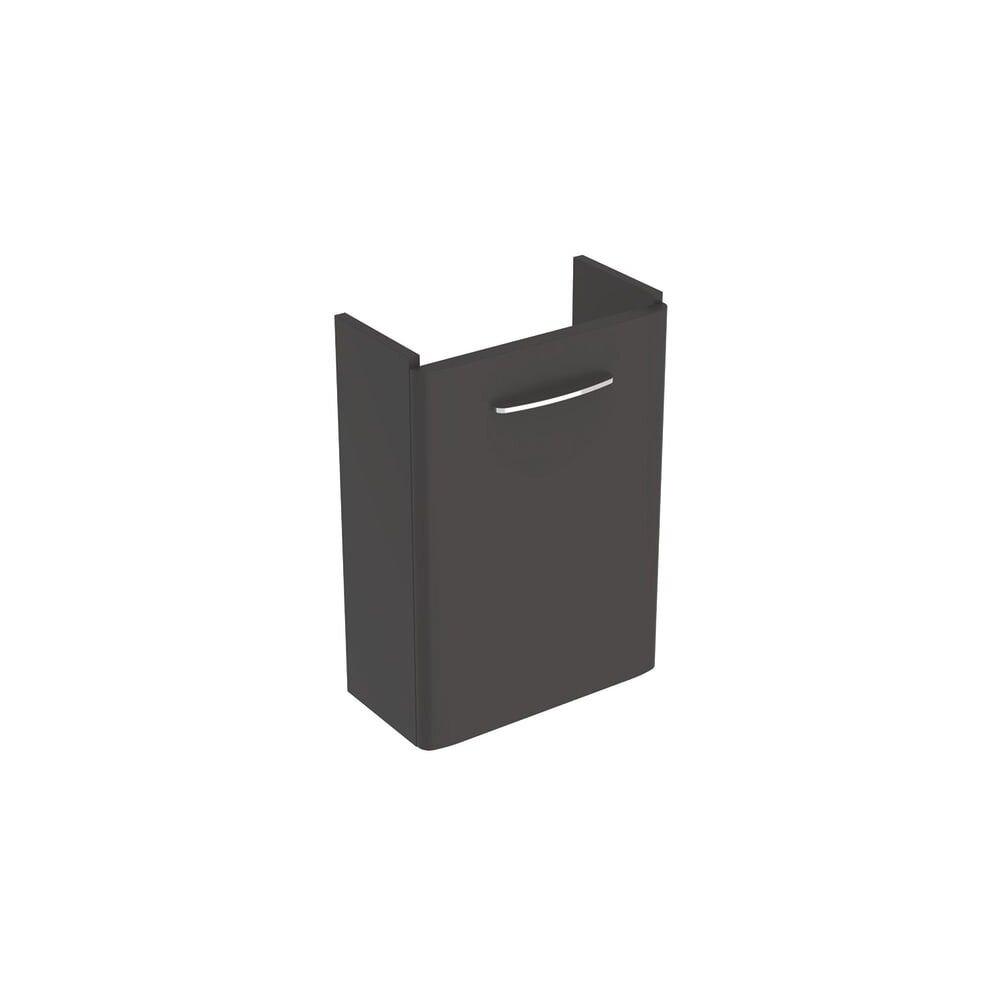 Dulap baza pentru lavoar suspendat Geberit Selnova Square negru 1 usa proiectie mica 45 cm imagine