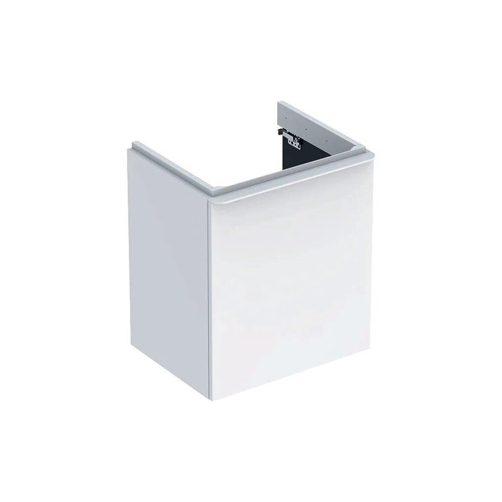 Dulap baza pentru lavoar suspendat Geberit Smyle Square alb 1 usa opritor stanga 54 cm neakaisa.ro