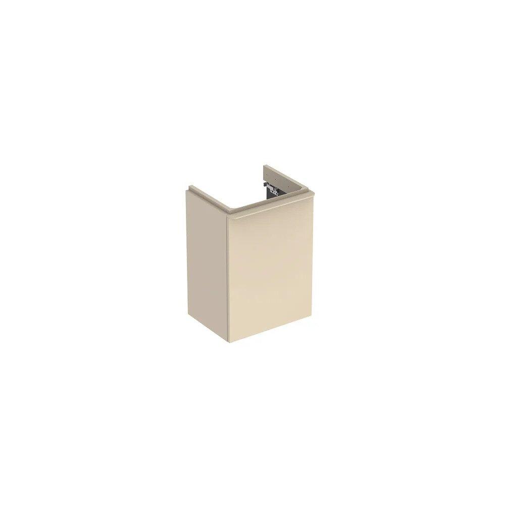 Dulap baza pentru lavoar suspendat Geberit Smyle Square gri nisip 1 usa opritor stanga 45 cm neakaisa.ro