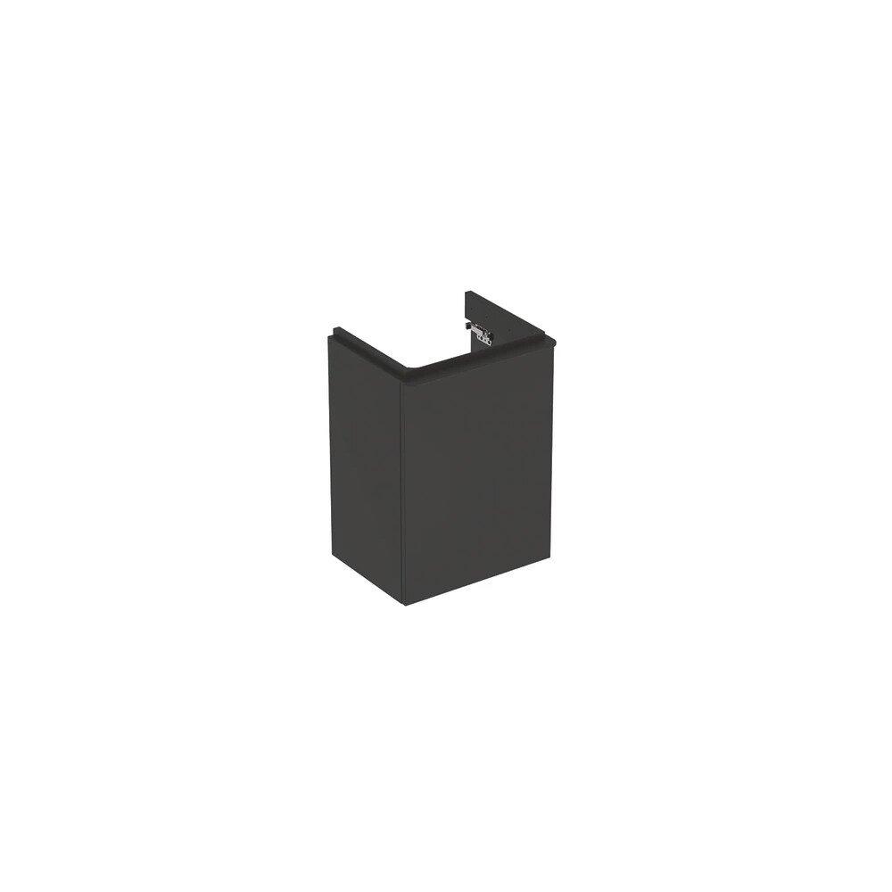 Dulap baza pentru lavoar suspendat Geberit Smyle Square negru 1 usa opritor dreapta 45 cm imagine
