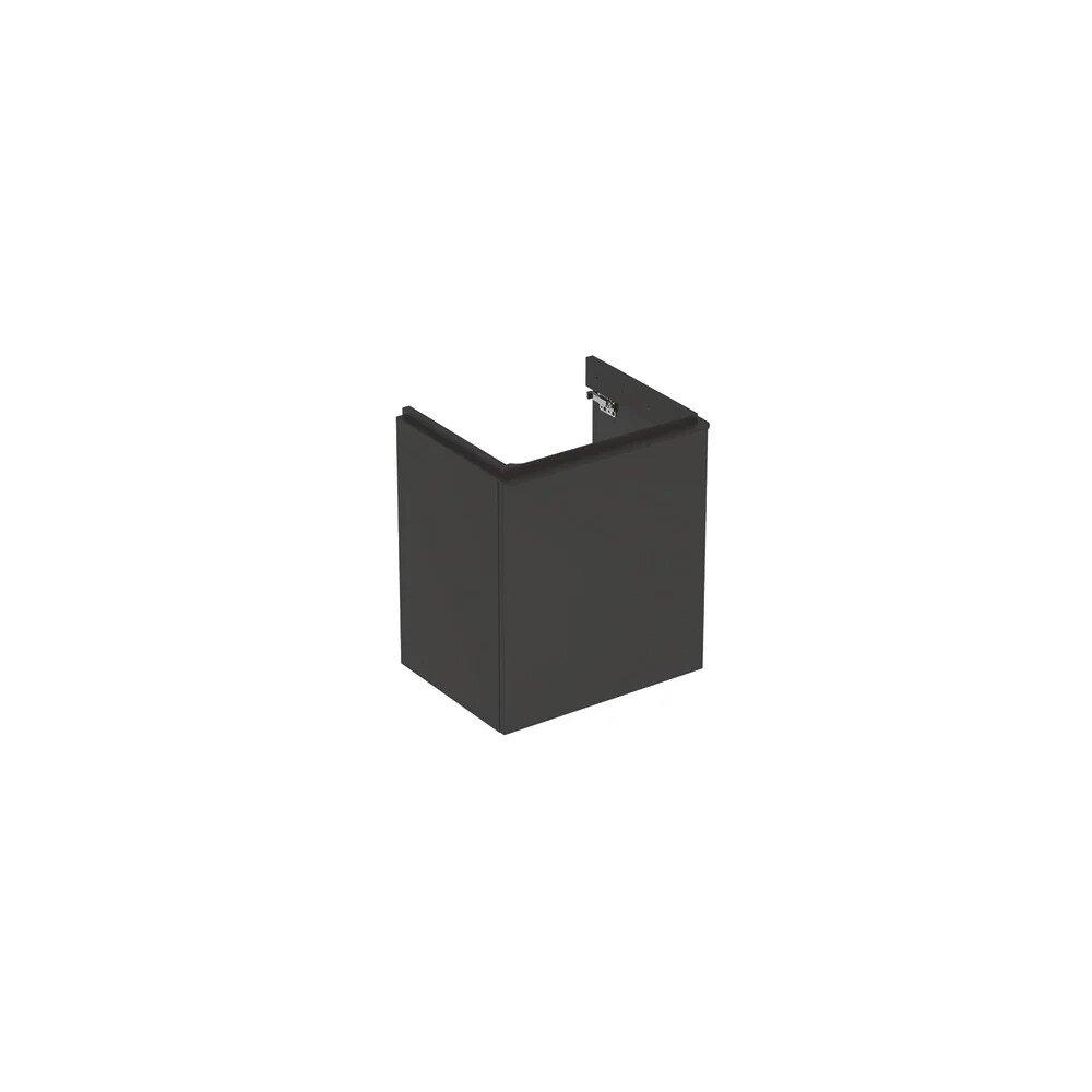 Dulap baza pentru lavoar suspendat Geberit Smyle Square negru 1 usa opritor dreapta 54 cm neakaisa.ro