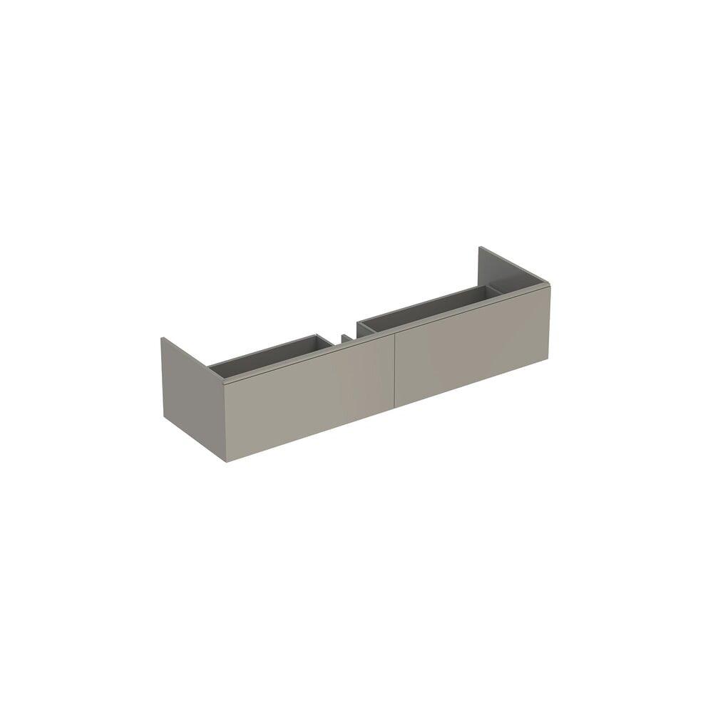 Dulap baza pentru lavoar suspendat greige Geberit Xeno² 2 sertare 160 cm imagine
